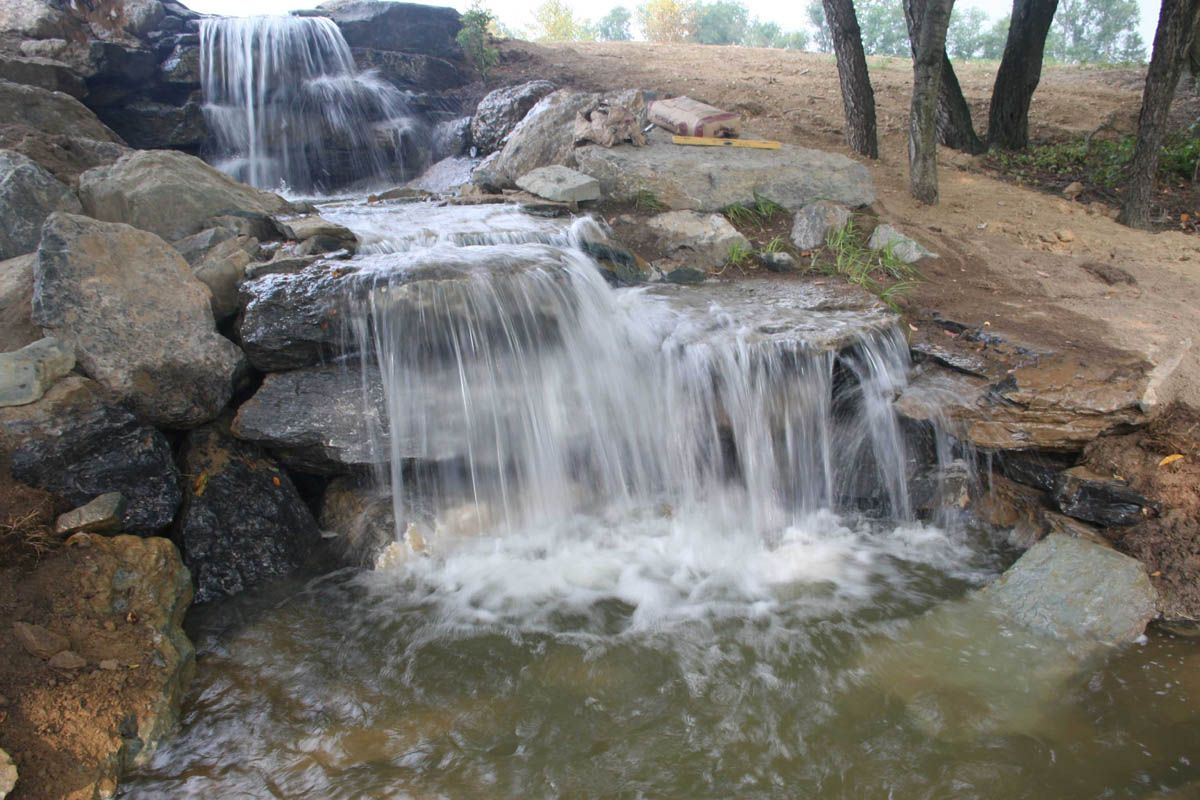 Yard ponds and waterfalls us now to start planning for Waterfall features for ponds