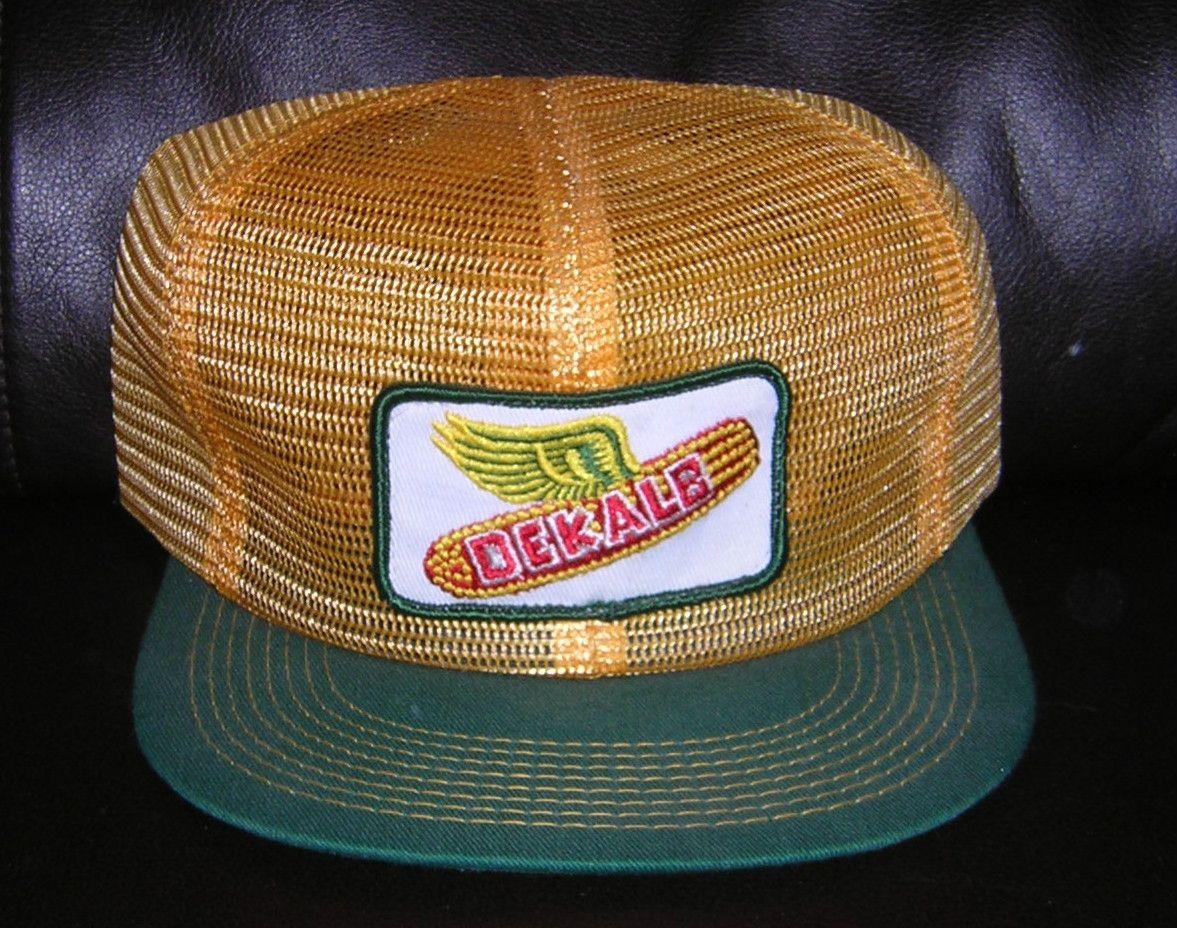 23f0902821a Vintage NEW Dekalb Seed Corn Advertising Hat Farmer Trucker Mesh Snap Back  Cap