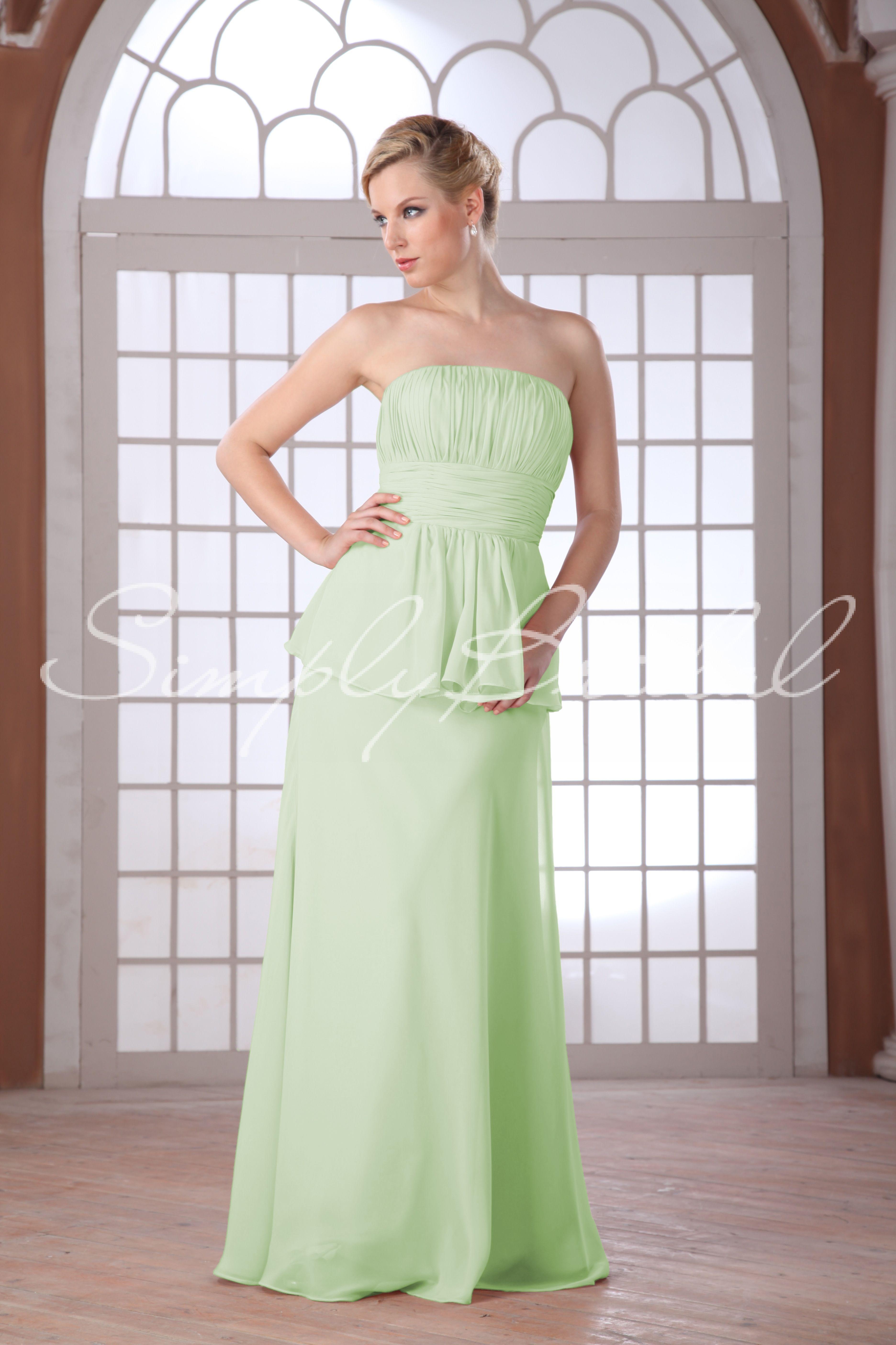 85105 floor length strapless chiffon peplum dress bridesmaid 85105 floor length strapless chiffon peplum dress bridesmaid dress simply bridal ombrellifo Images