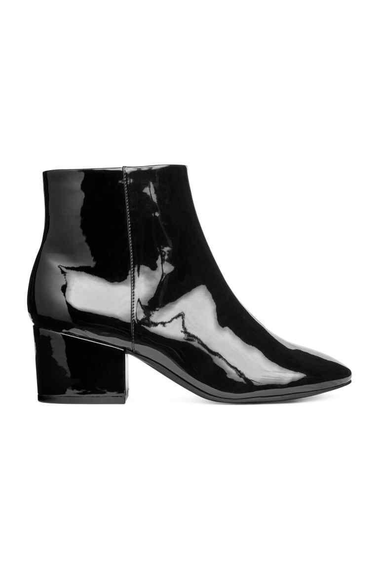 Enkellaarsjes met rits Laarzen, Zwarte enkellaarsjes en