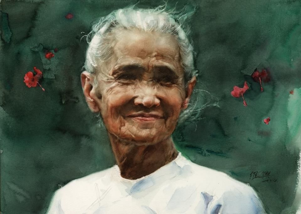 Watercolor Portrait Paintings By Chinese Artist Guan Weixing With