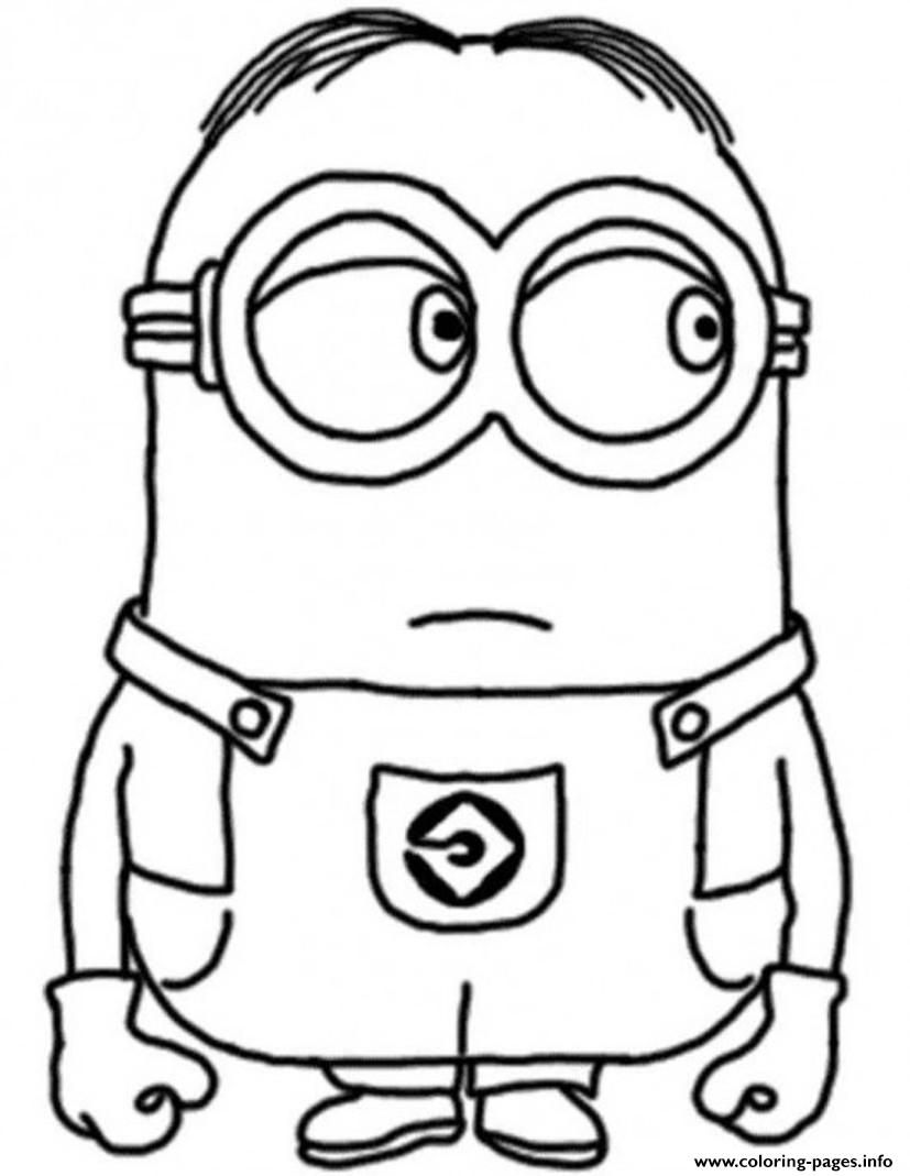 Free Coloring Pages Download Print Dave The Minion Despicable Me S17c96 Drawings Of