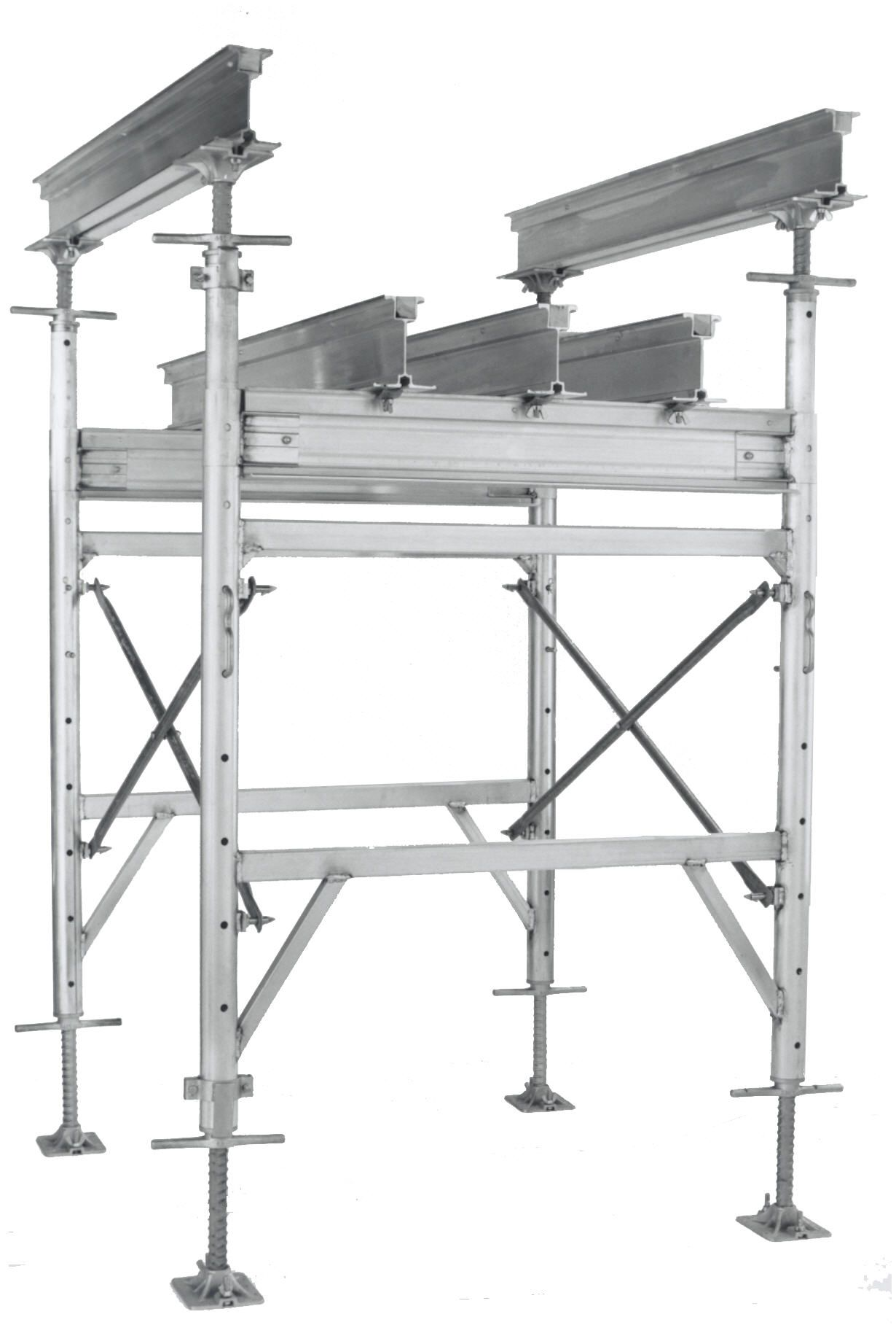 Aluminum Shoring Jacks : Click for details on hi lite k aluminum shoring frames