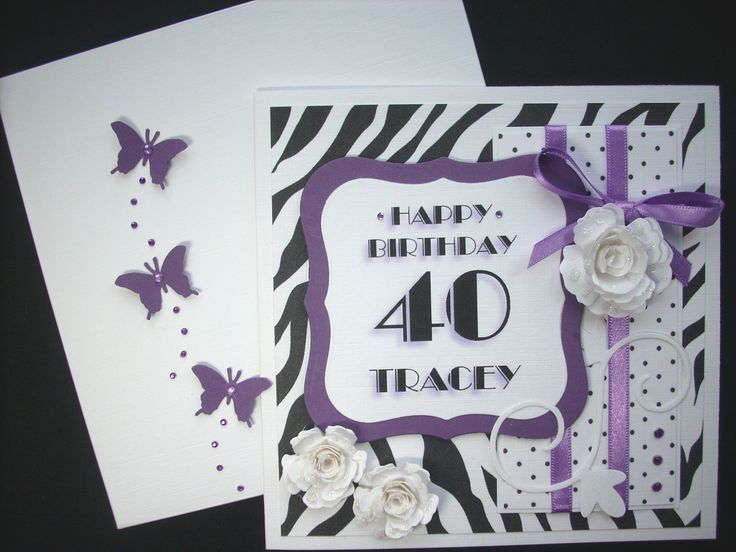 Image result for girl 40th birthday card 40th birthday