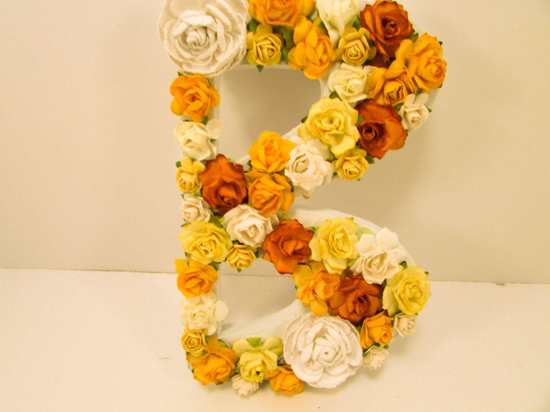 Floral name letter - Floral letter - Personalized floral letter ...