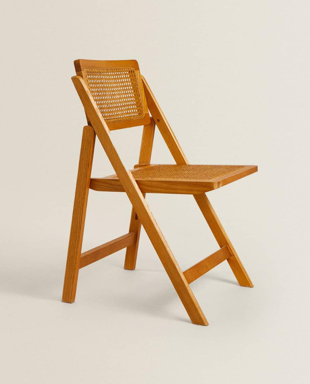 Cadeira Dobravel Madeira E Rata Folding Chair Wood Folding Chair Chair