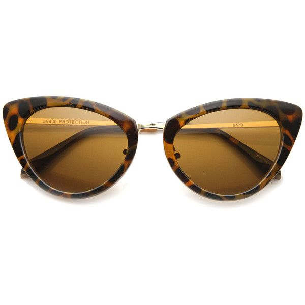 Women's Retro Fashion Cat Eye Metal Temple Sunglasses 9800 (34.905 COP) ❤ liked on Polyvore featuring accessories, eyewear, sunglasses, oversized sunglasses, cateye sunglasses, oversized cat eye sunglasses, futuristic sunglasses and oversized cateye sunglasses