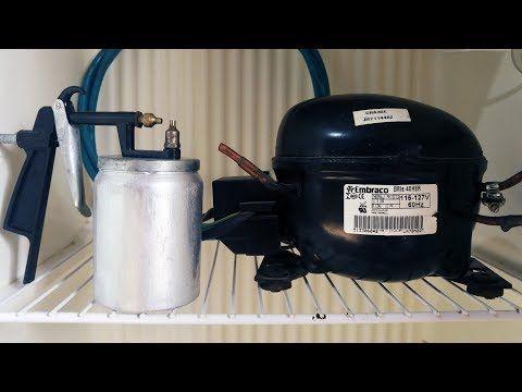 Compressor Com Motor De Geladeira Rapido E Facil Para Pintura