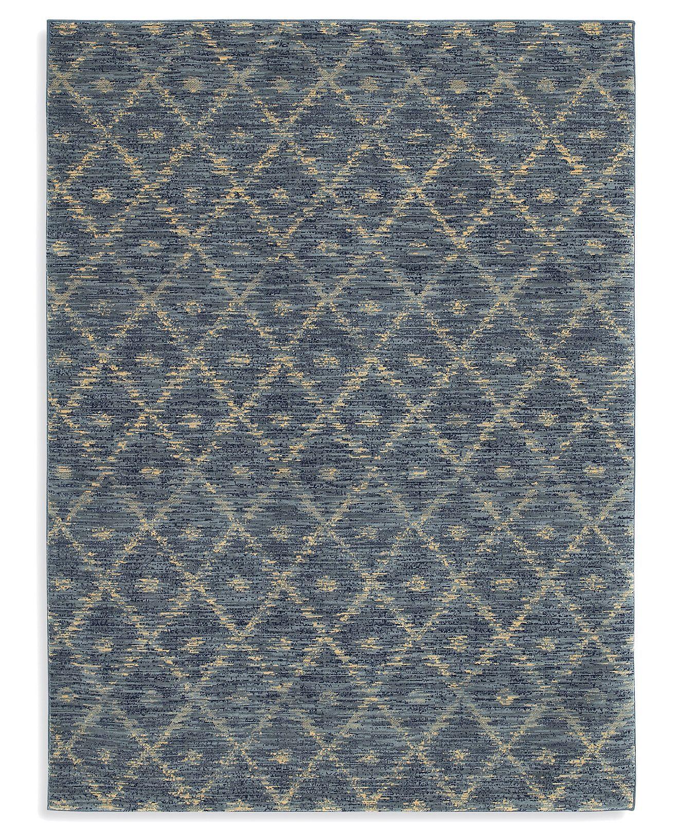 Karastan Area Rug Woven Impressions Diamond Ikat Indigo 8 6 X 11 6 Traditional Rugs Rugs Macy S Quality Area Rugs Karastan Rugs