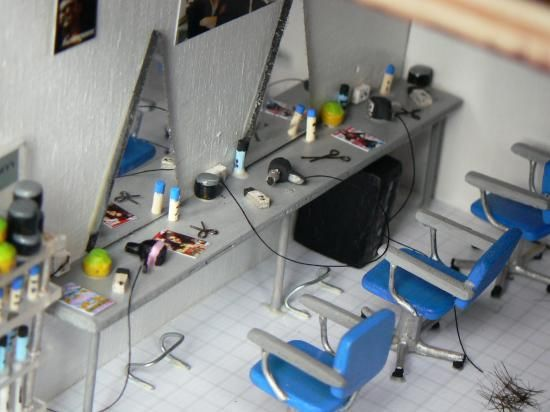 Le salon de coiffure les miniatures de g g miniature for Beauty project ideas