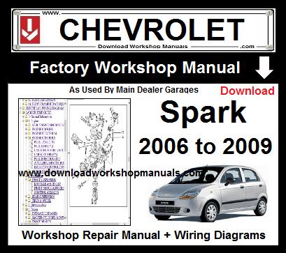 Chevrolet Spark Service Repair Workshop Manual Download Chevrolet Chevrolet Captiva Chevrolet Spark