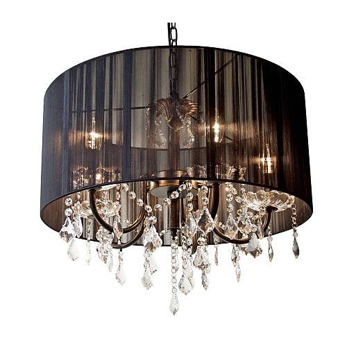 Black Drum Shade Chandelier With Crystals Chandeliers Design – Crystal Chandelier Drum Shade