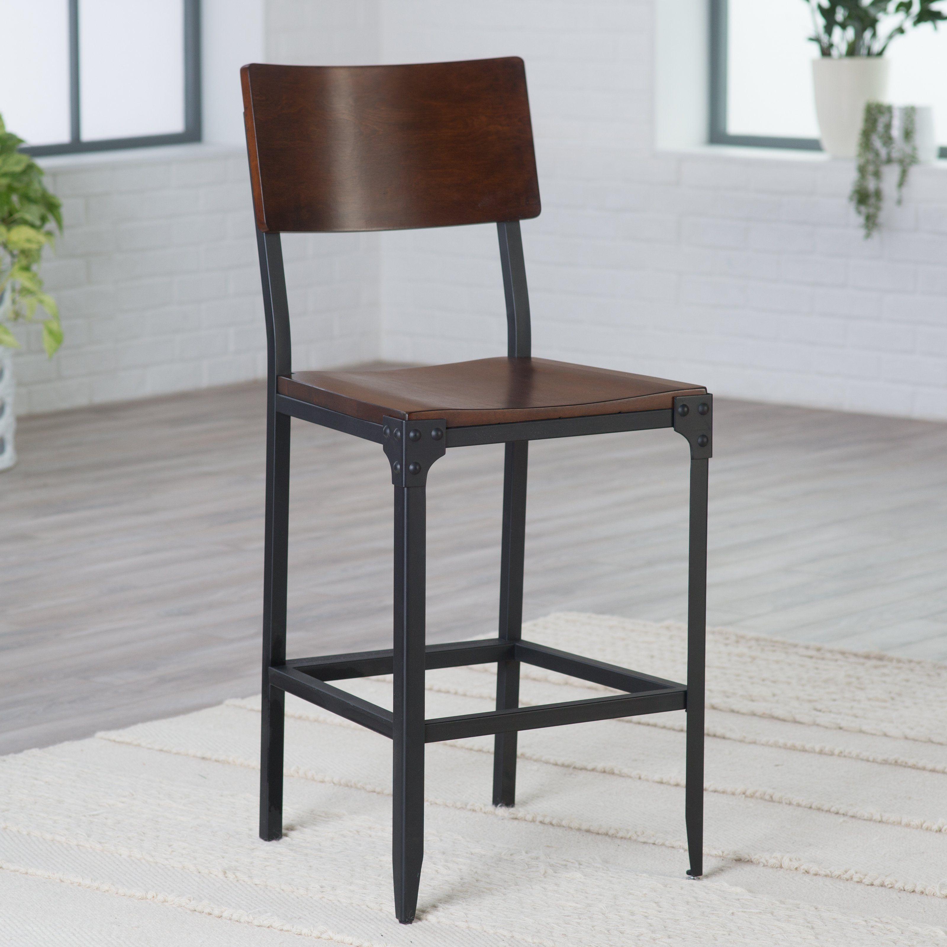 Belham living trenton wood and metal counter stool rh151002 26h