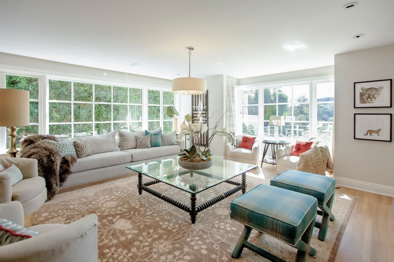 Expansive Formal Living Room With Large Windows Living