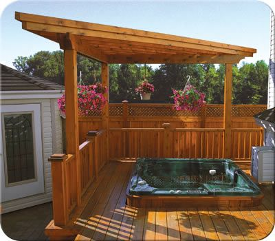 Custom Flat Roof Cedar Pergola Fence All Outdoors