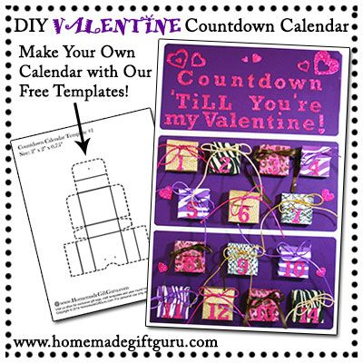Learn how to make a Valentine countdown calendar for your favorite