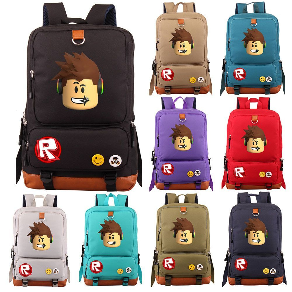 XAXBXC Cartoon Games School Bag Roblox Boy Girl Multi
