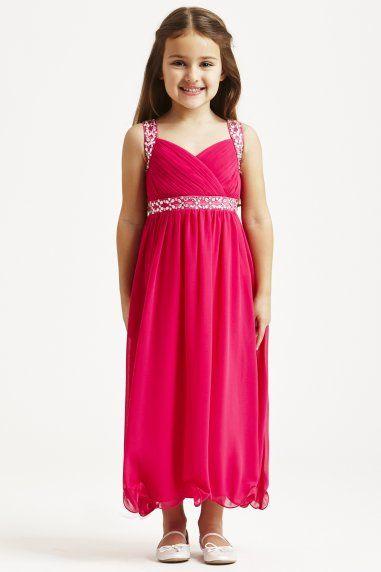 Pink Embellished Strap Dress