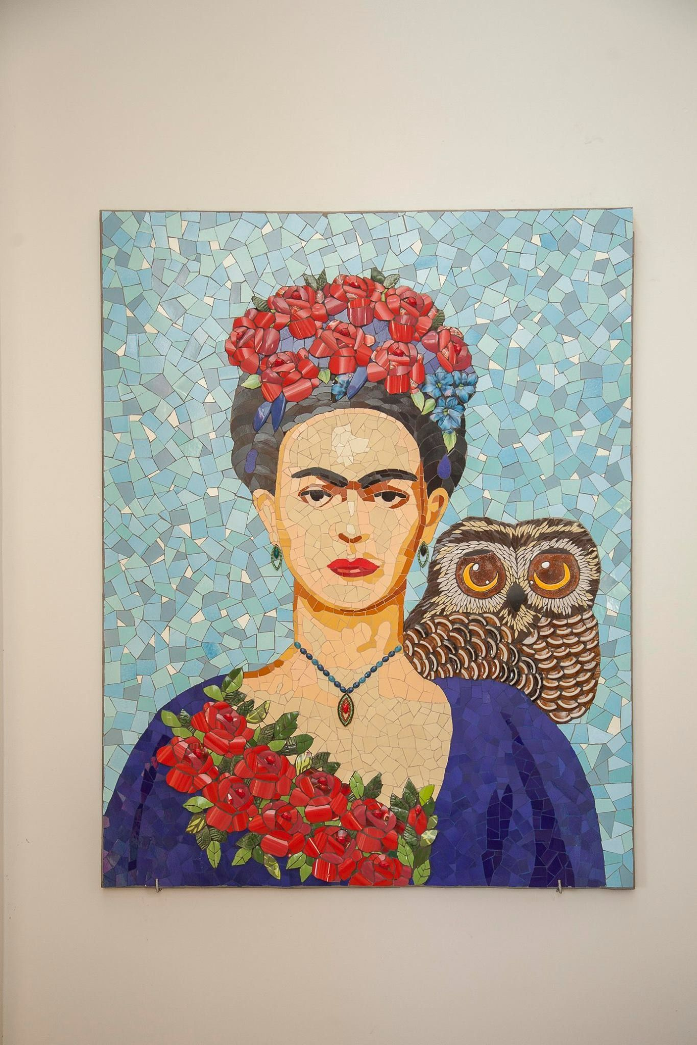 frida kahlo mosaico picassiette by andrea olighon mosaic art mosaik. Black Bedroom Furniture Sets. Home Design Ideas