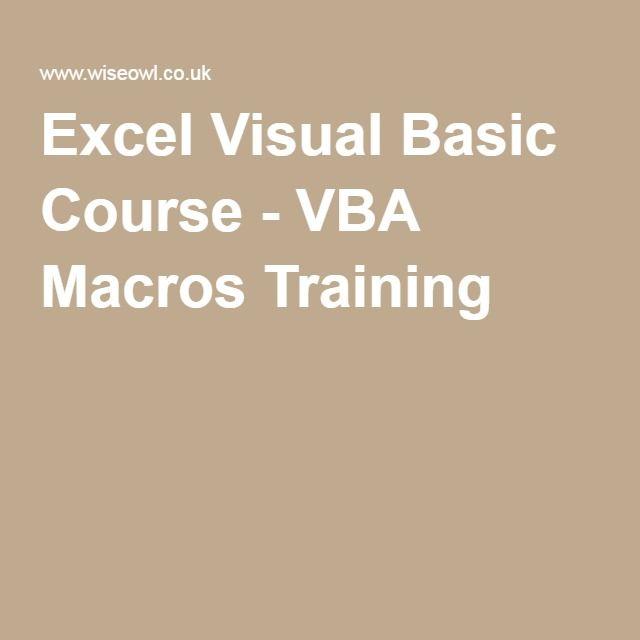 Excel Visual Basic Course - VBA Macros Training | Tutorials