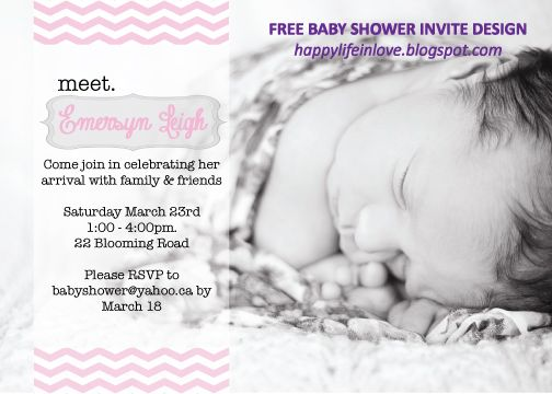 Free Baby Shower Meet The Baby Invitation Design Vector Baby