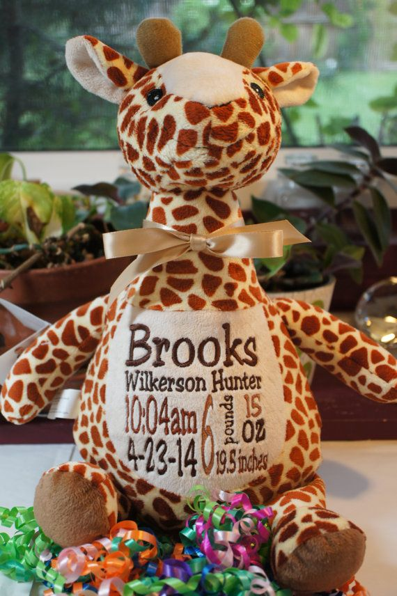 Personalized baby gift baby cubby tumbleberry the giraffe a personalized baby gift baby cubby tumbleberry the giraffe a plush stuffed animal keepsake with machine embroidered birth information negle Images