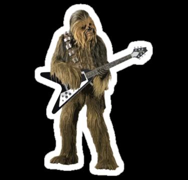 Buy chewbacca guitar solo sticker by pinhead indu 3650855 redbubble com