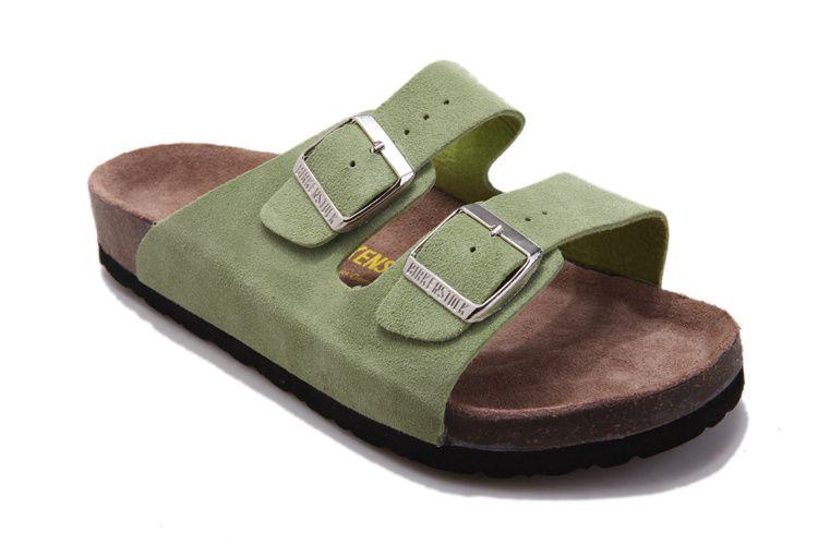 Birkenstock ARIZONA - Slippers - sandwashed green foKStAHC