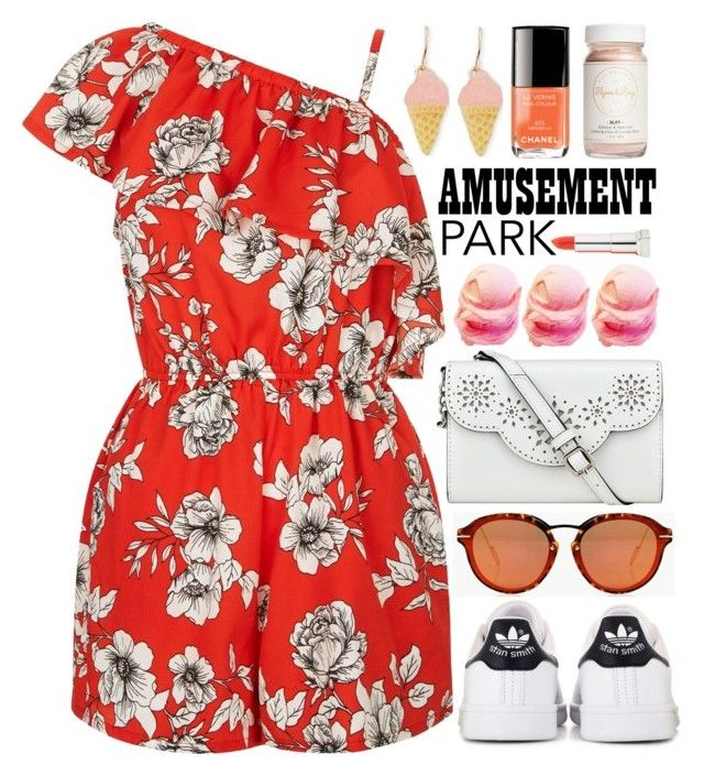 """Let's get amused"" by alaria ❤ liked on Polyvore featuring Forever 21, adidas, Boohoo, Flynn&King, Nine West, Maybelline, amusementpark and 60secondstyle"