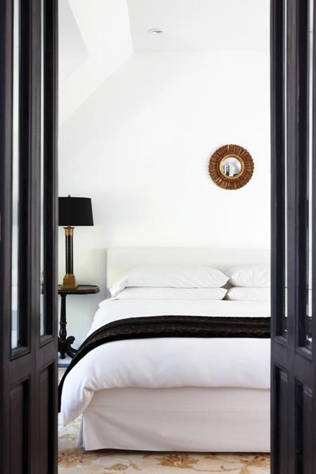 Elegant Black and White Bedroom