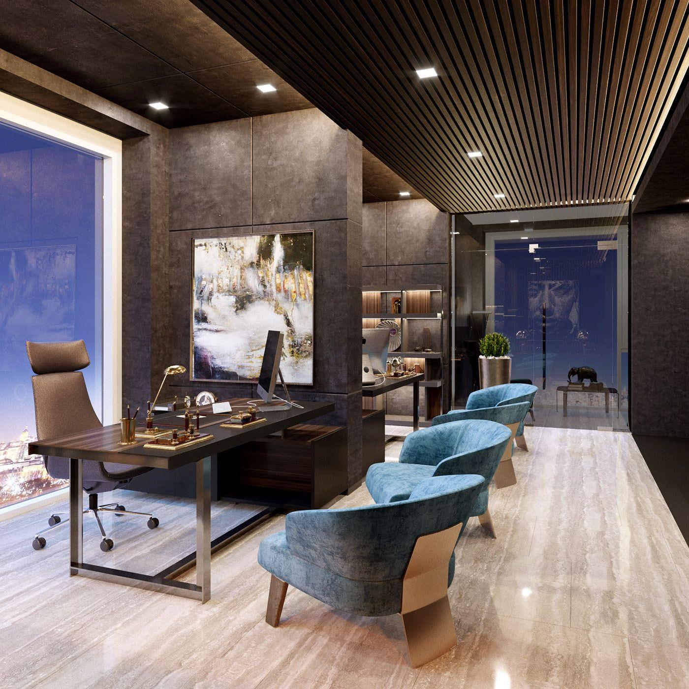 Office concept on Behance | Office interior design ...
