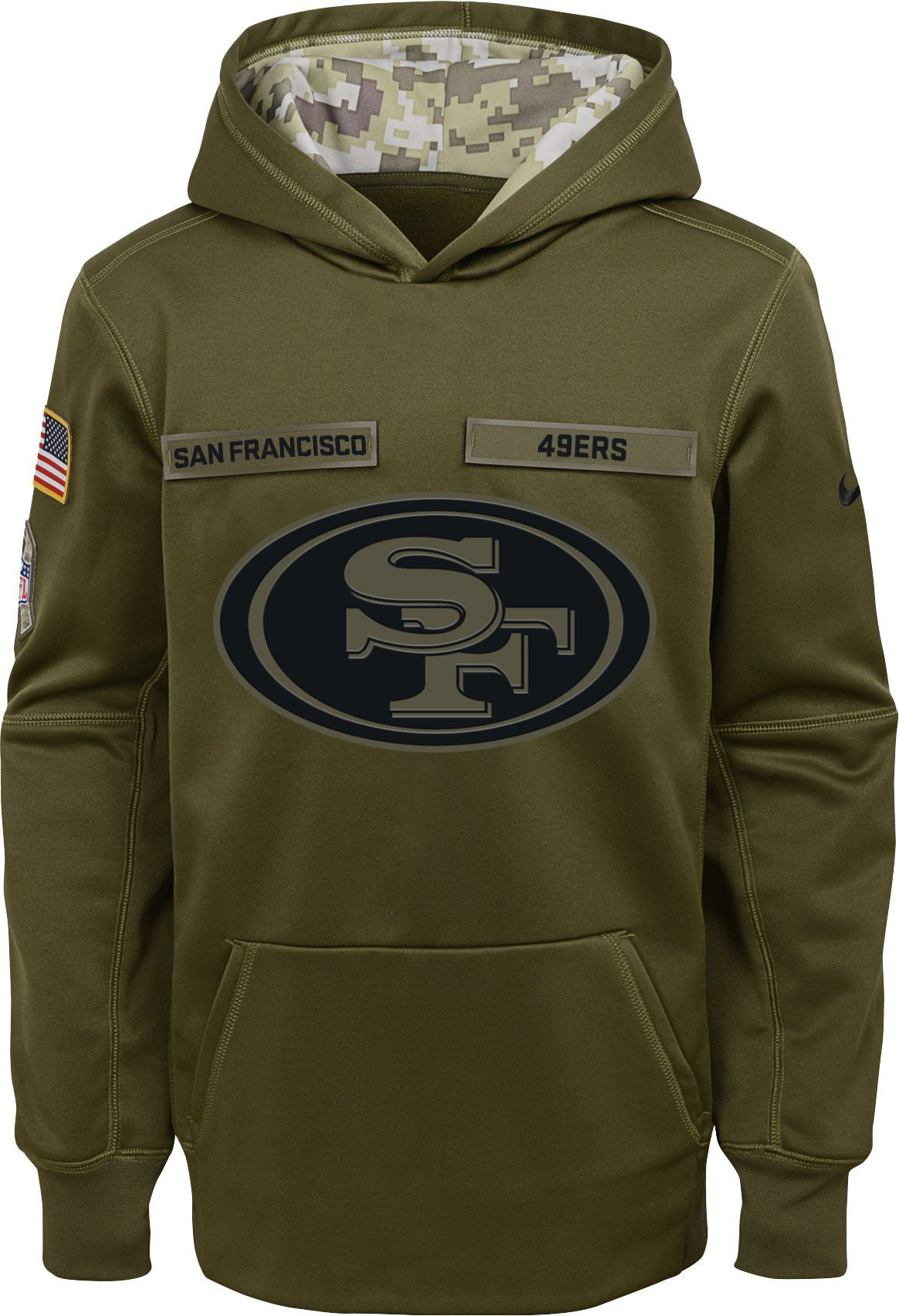 promo code ca6d0 25192 Nike Youth Salute to Service San Francisco Therma-FIT Olive ...