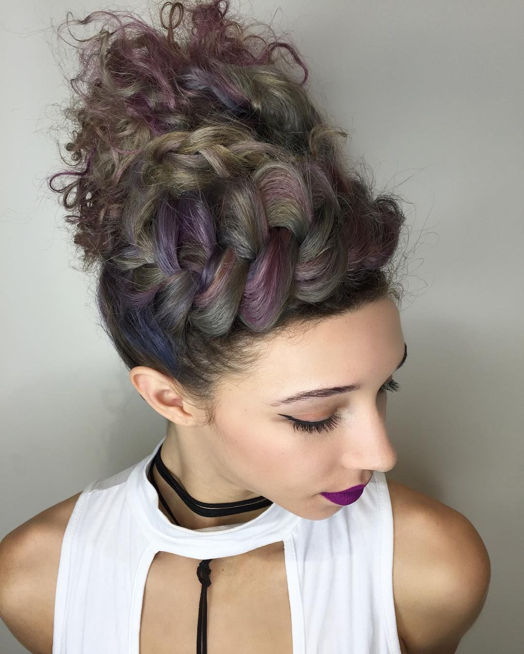 Updos for CurlyHaired Babes to Rock This Holiday Season  Crown
