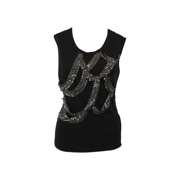 BLESS'ED ARE THE MEEK | Black Magical Realism Sequinned Top via Polyvore