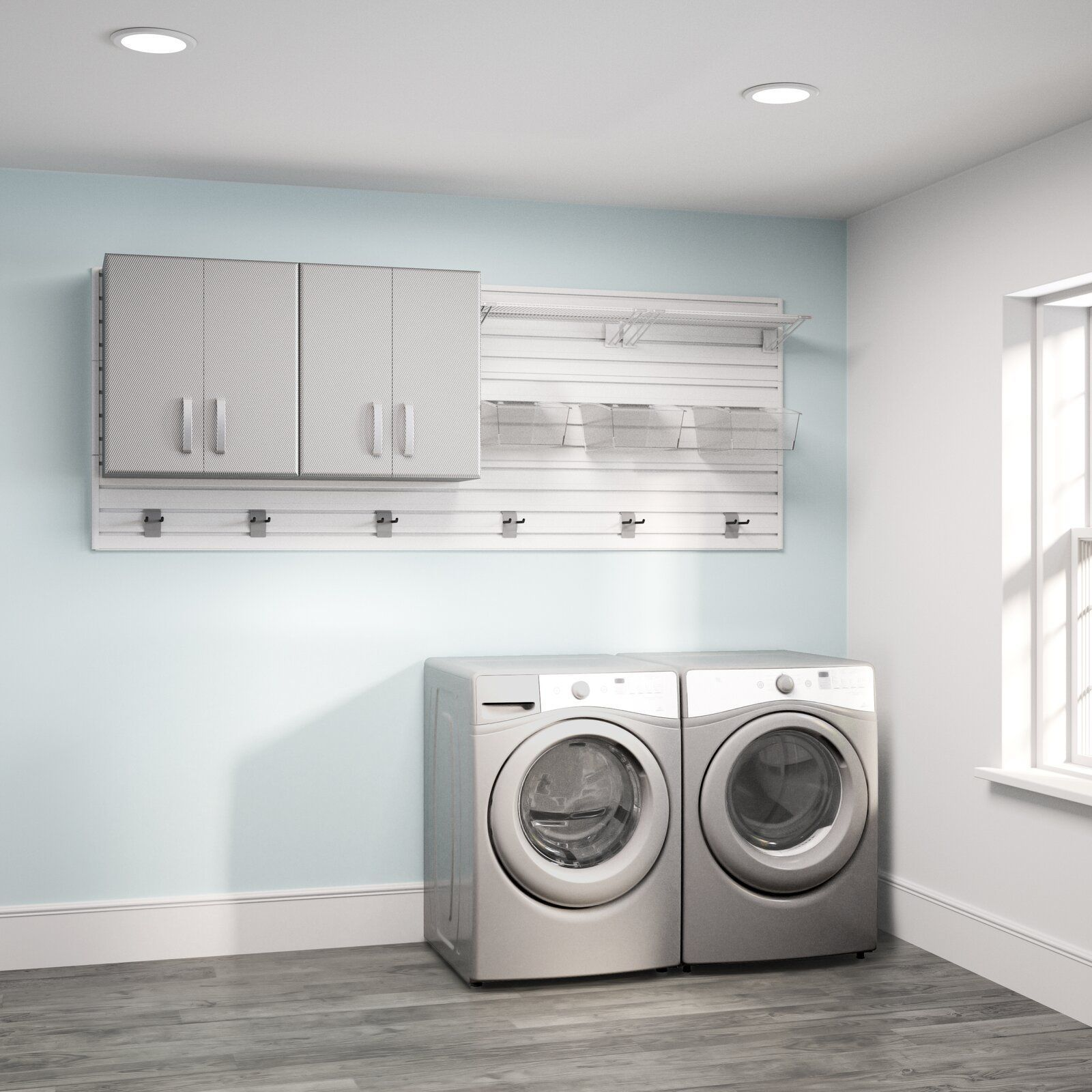Flow Wall 3 Piece Laundry Room Organizer Set Wayfair Laundry Room Storage Small Laundry Room Organization Laundry Cabinets