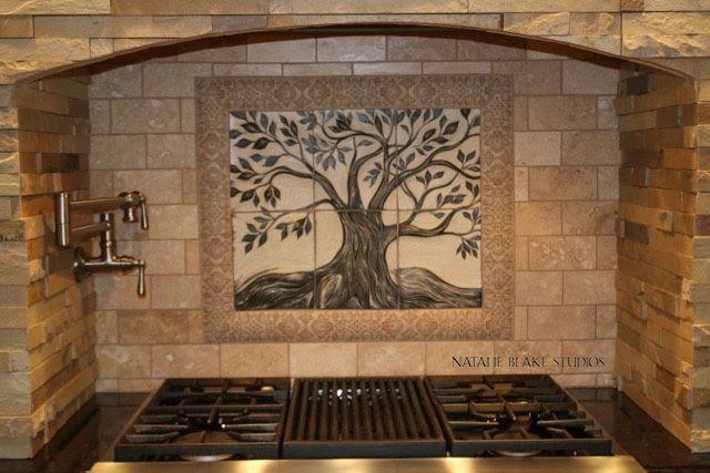 ceramic tile wall mural Natalie Blake Studios Ceramics Pinterest