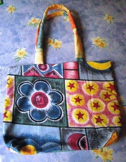 Shopper-Tasche genäht aus Bettwäsche | TASCHEN, bags | Pinterest ...
