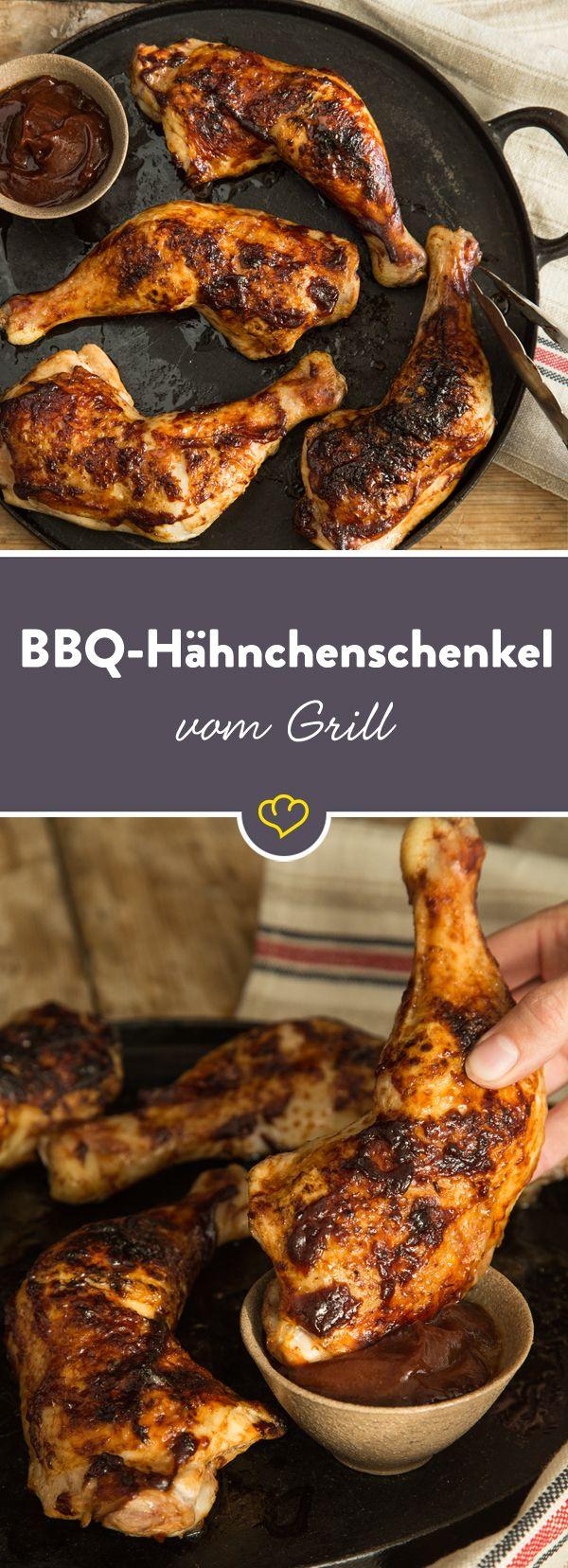 Knusprige BBQ-Hähnchenschenkel vom Grill #grilledporksteaks