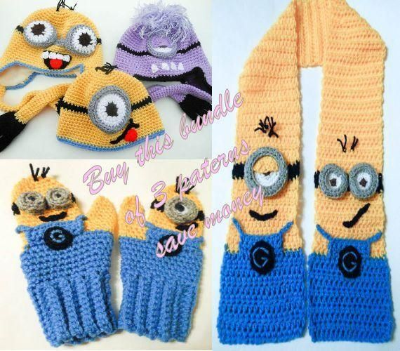 Famous Minion Crochet Pattern Hat Image Easy Scarf Knitting