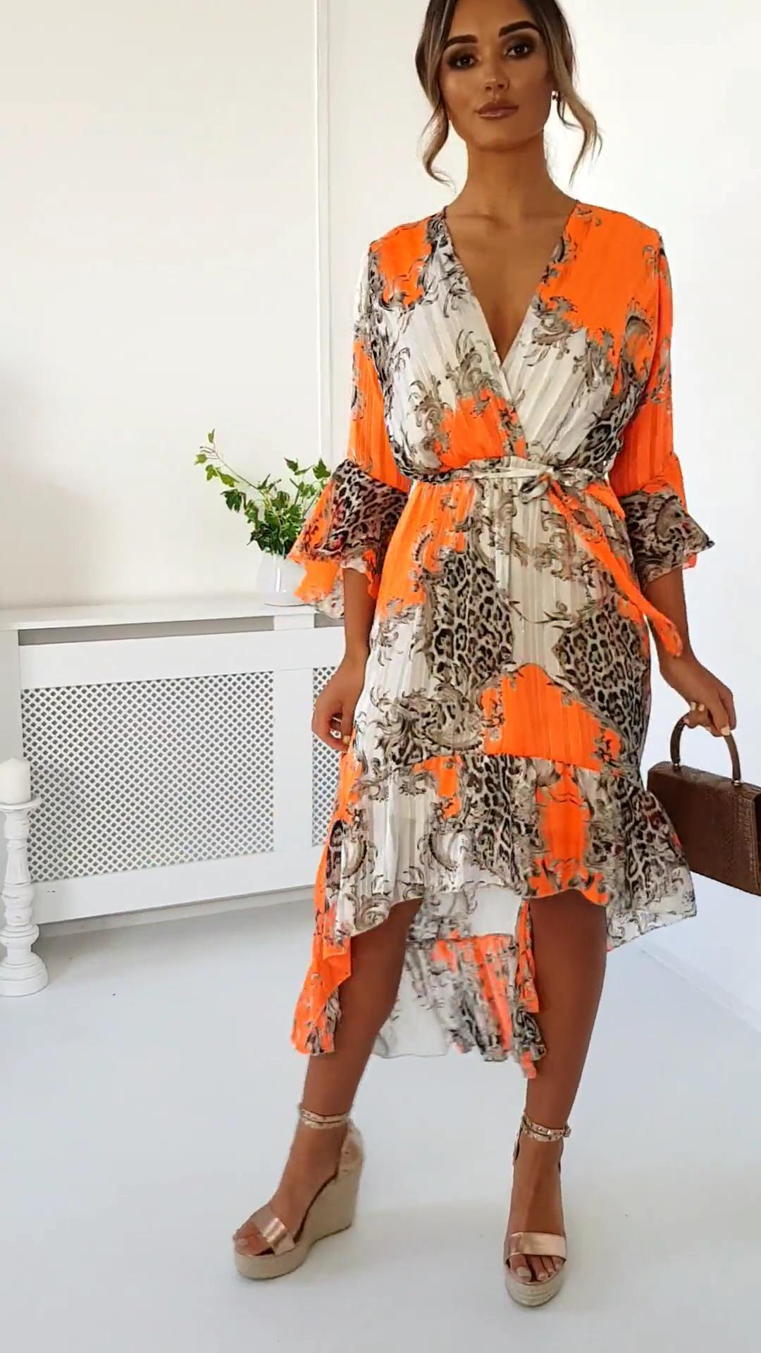Anya Printed Floaty Maxi Dress