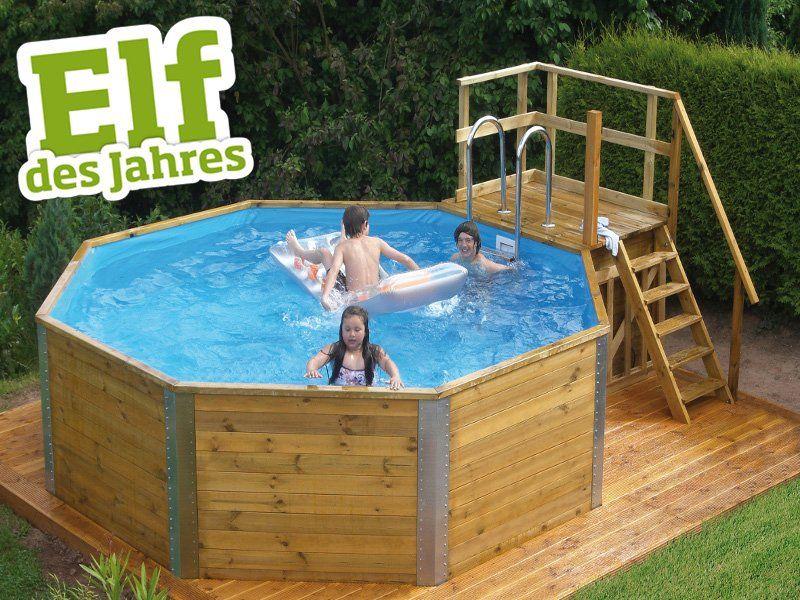 Pool 593 b gr 1 45 mm kesseldruckimpr gniert holzpool for Garten pool komplettset