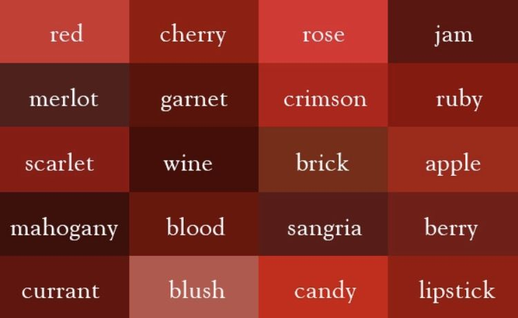 Colors Related To Red Writing Pinterest Color Red And Color