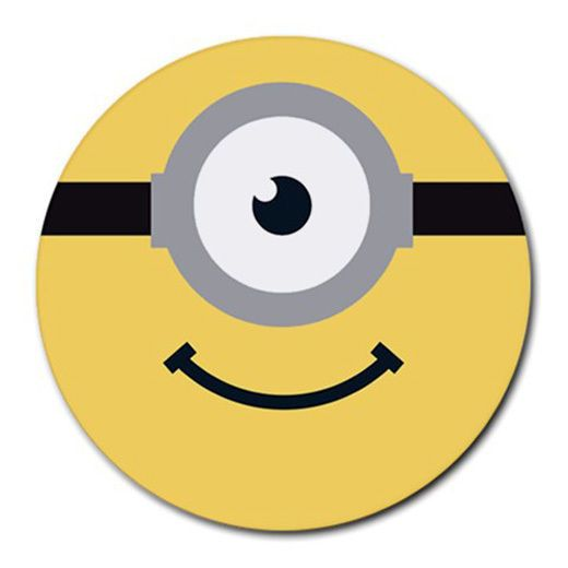 NEW ITEM Despicable Me Minions Round Mousepad Mouse Mat,Wholesale, Free Shipping