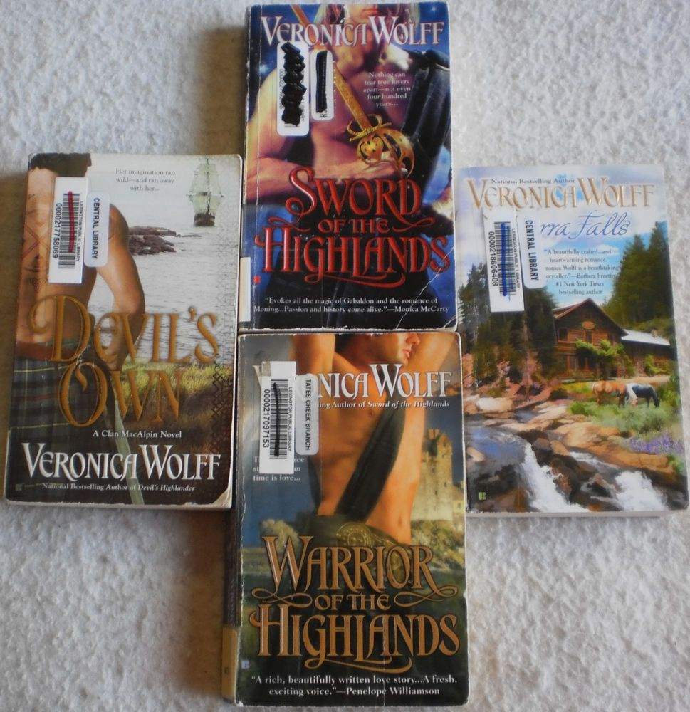 Veronica Wolff Lot of 4 Sierra Falls~Warrior of the Highlands~Devil's Own