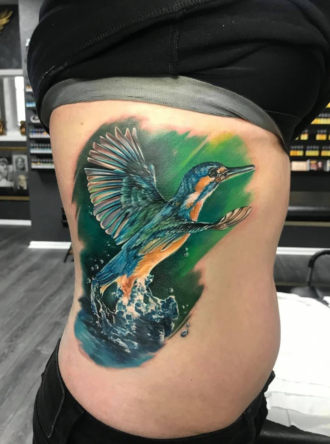Kingfisher tattoo by Ana. Limited spaces available at Holy