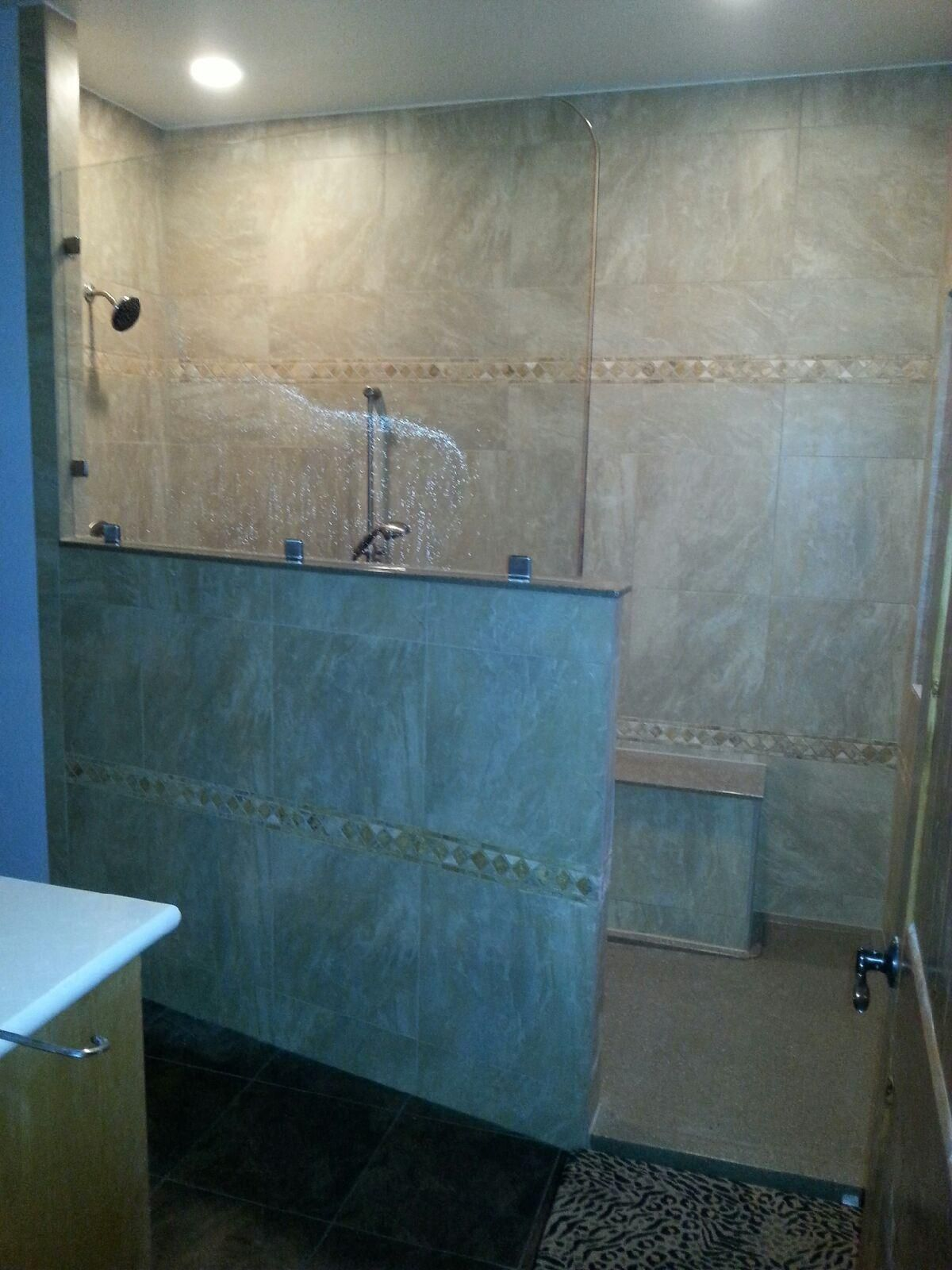 Rebath Tile & Grout Wall System Custom Walk-In Shower | Walk-in ...
