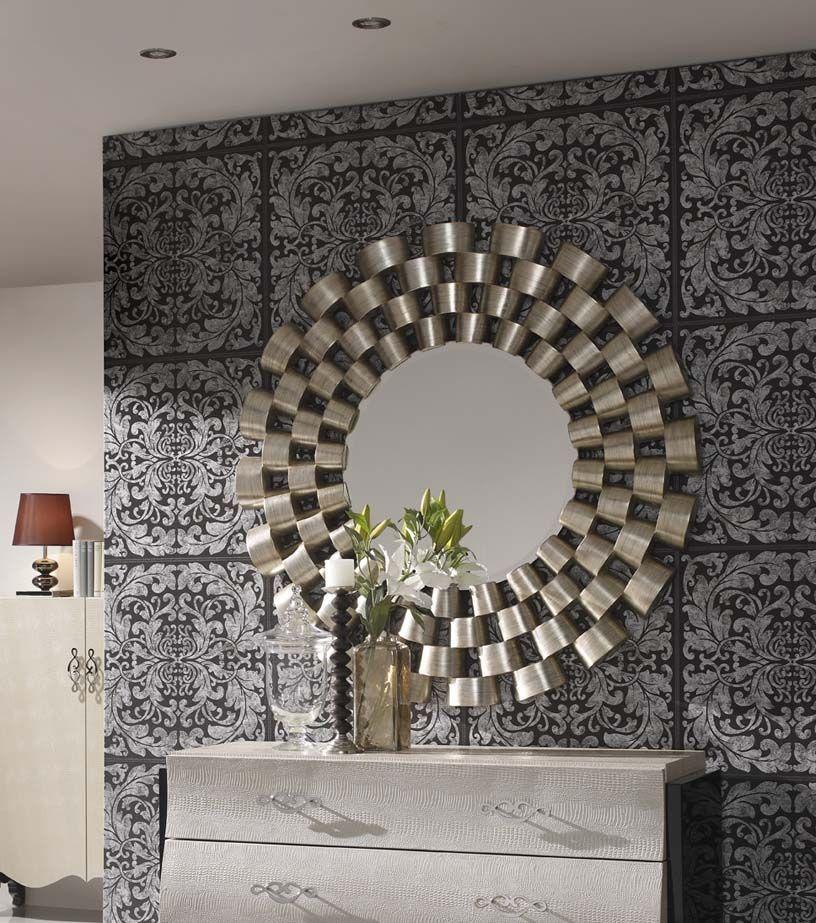 Wandspiegel liverpool mit originellem rahmen ihr online shop f r deko spiegel design - Deko wandspiegel ...