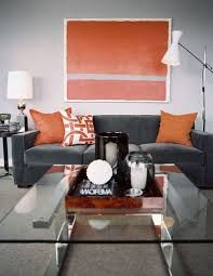 Image Result For Charcoal Sofa With Orange Cushions Home Ideas In