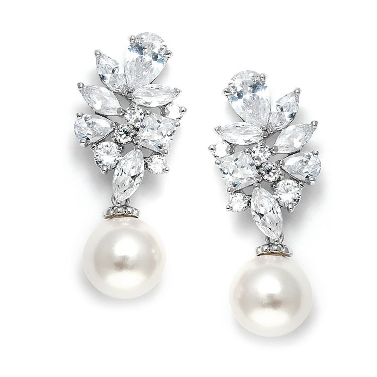 15357e8e4 Chic Pearl Drop Couture Crystal Bridal Earrings. Chic Pearl Drop Couture  Crystal Bridal Earrings on Tradesy Weddings (formerly Recycled Bride), ...