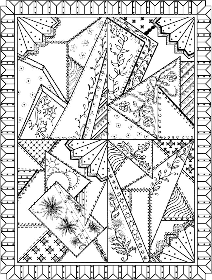 Dover Creative Haven Patchwork Quilt Designs Coloring Page Designs Coloring Books Pattern Coloring Pages Coloring Pages